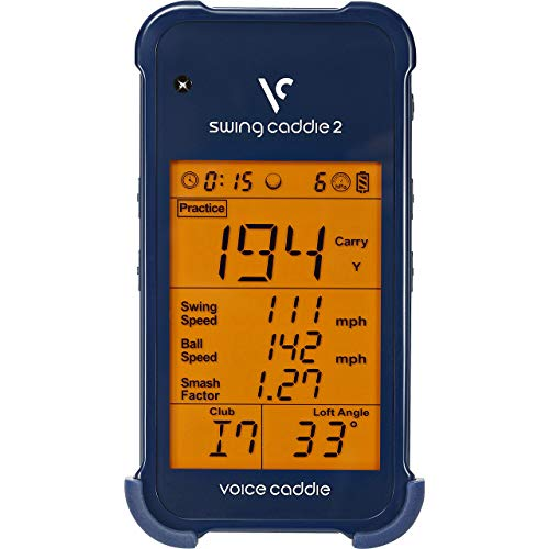 Voice Caddie SC 200 Portable Golf Launch Monitor with Audible Output, Blue (Renewed) ()