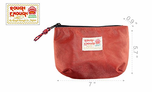 Rough Enough Multi Functional Classic Basic Small Nylon Pouch Bag Organizer Holder Storage for Macbook Air Laptop Adaptor Electronic Accessories Cosmetics Toiletries School Supplies Outdoor Home by ROUGH ENOUGH (Image #5)