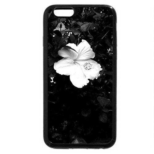 iPhone 6S Plus Case, iPhone 6 Plus Case (Black & White) - White Hibiscus