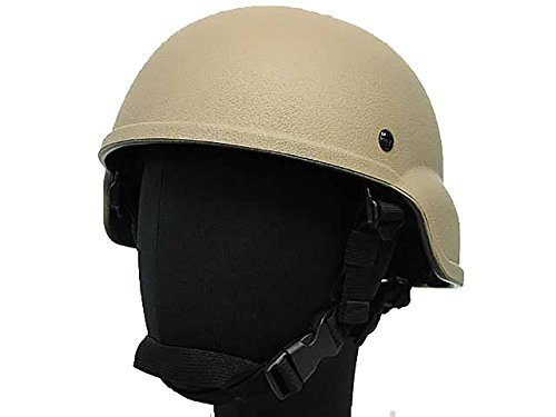 (Tactical Light Weight MICH 2000 Plastic Helmet Airsoft Military Paintball Tan)