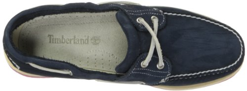 Timberland Mens Classic 2 Eye Boat Shoe Navy/Red TvO5PcP