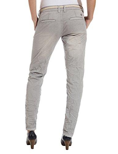 Pants 9099 Grey Pantalones Incl Grau Alannatz chateau Timezone Belt Chino Mujer qEzZvwC
