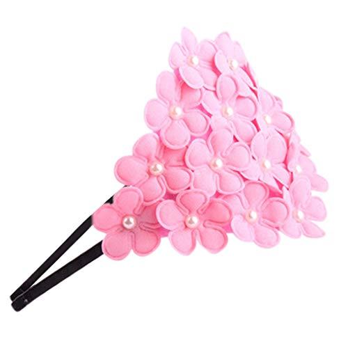 Willsa Kids Infant Baby Girls Cute Hairband Boutique Petal Flower Pearl Queen Headwear ()