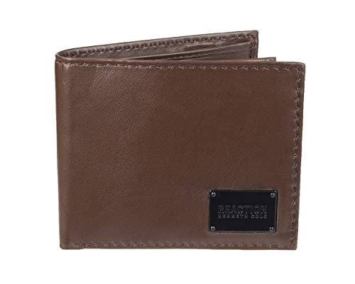 Kenneth Cole REACTION Men's RFID Slimfold Extra Capacity Wallet, Brown Xcap, One Size