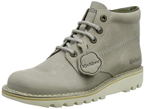 Kickers Kick Hi Womens Leather Matt Ankle Boots in Grey (EU 41, Grey) (Womens Kickers)