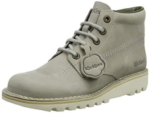 (Kickers Kick Hi Womens Leather Matt Ankle Boots in Grey (EU 41, Grey))