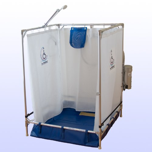 Portable Wheelchair Safe Shower Stall (Made in the USA, 10-year warranty on frame) by MedAme