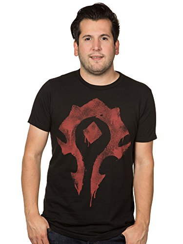 JINX World of Warcraft Men's Horde Spray Paint Premium Cotton T-Shirt