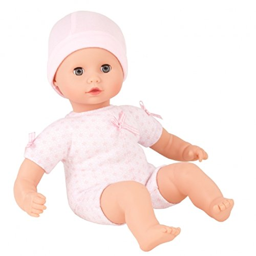 """Gotz Muffin to Dress 13"""" Soft Body Baby Girl Doll with Blue Sleeping Eyes"""