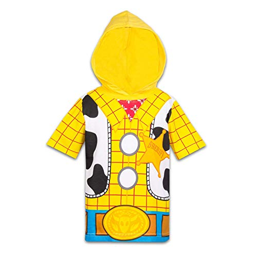 Disney Toy Story Boys Hooded Shirt Toy Story Costume Tee - Buzz Lightyear Sheriff Woody (Sheriff Woody, 5T) -