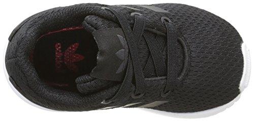 adidas Unisex Baby ZX Flux Lauflernschuhe Mehrfarbig (Black/cblack/ftwwht M21301)
