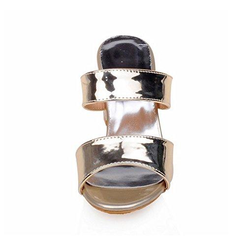 AicciAizzi Donna Donna Sandali Gold su Pantofole Scivolare 7r7qzf