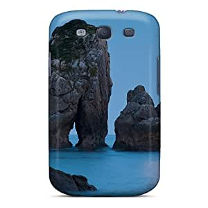New Galaxy S3 Case Cover Casing(moonlight Beach Rock)