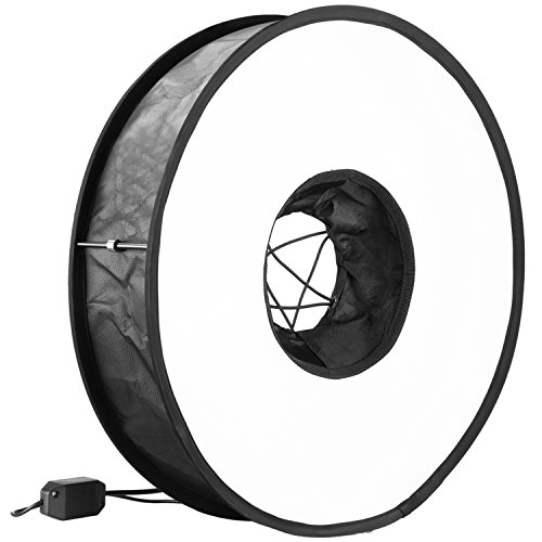 Neewer 18 inches/45 centimeters Universal Foldable Diffuser Soft Box with 50W Ring LED Light, Adapter and Carrying Case for YouTube Video Shooting, Flash and Portrait Photography