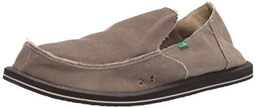 Sanuk Men's Vagabond Slip On, Brown, 11 M US ()