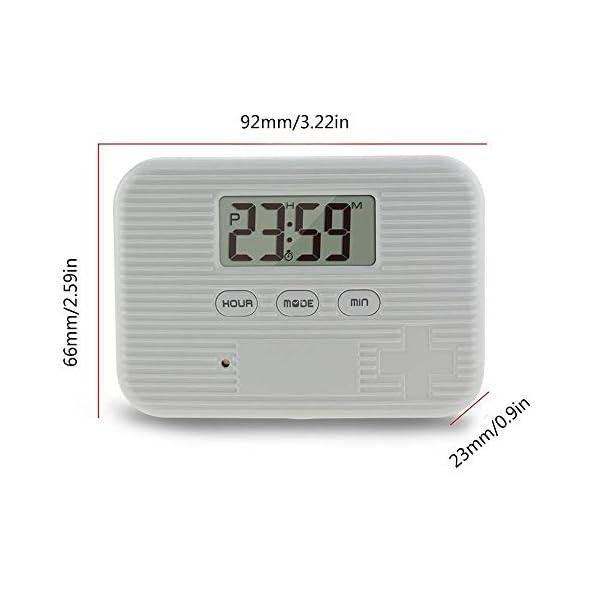 KOBWA - Caja de almacenamiento para pastillas de medicina, digital, ligera, con 5 alarmas de temporizador, pastillero de… 4