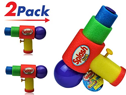 (JA-RU Water Gun Safe Foam (Pack of 2) Squirt Splash Soak Toy | Item #891-2)