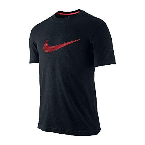 Nike Männer Nike läuft dieses Grafik T-Shirt Schwarz / Schwarz / Lt Crimson