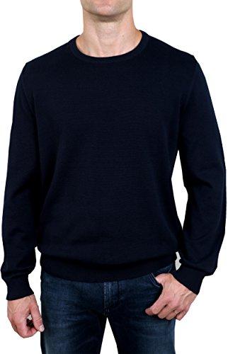 OLYMP Strick Pullover Rundhals extrafeine Baumwolle nachtblau