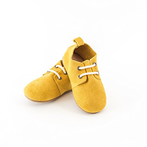 Piper Finn Genuine Leather Oxford Shoes - Baby Soft Sole + Toddler Hard Sole Mustard