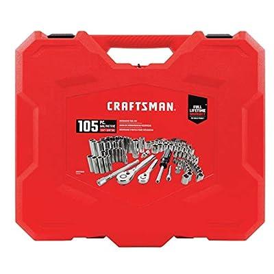 CRAFTSMAN Mechanics Tool Kit, 1/4-Inch & 3/8-Inch Drive, 105 Pieces (CMMT12023)