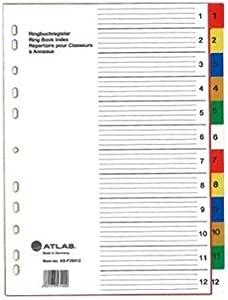 Atlas 1-12 Divider Plastic Colored