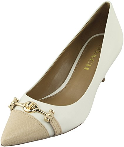 Coach Women¡¯s Lauri Chalk Beechwood Mat Calf Pointed-Toe Pumps 8.5 B US Women
