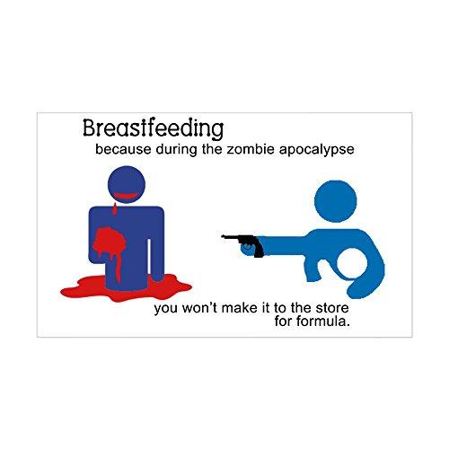 CafePress Breastfeeding Zombie Apocalyps Rectangle Bumper Sticker Car Decal