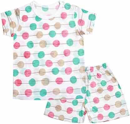 OllCHAENGi Toddler Kids Boys Girls Cotton Pajama Set Long Sleeve 10M-13Y Cloud