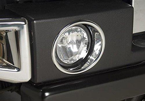 Kasei H3-FLR Hummer H3 Chrome Fog Lamp Rim (Hummer Chrome Kit)