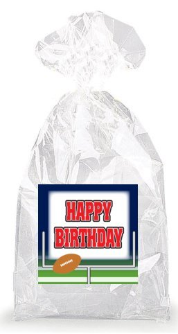 Football and Field Goal Happy Birthday Party Favor Bags with