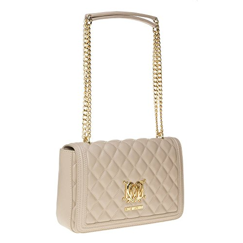 Love Moschino Quilted Chain Womens Handbag Natural by Love Moschino (Image #1)