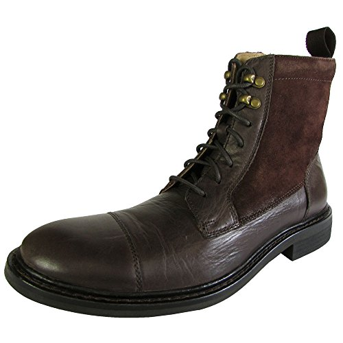 Cole Haan Mens Marshall Boot In Pizzo Ii Scarpa In Castagno / Camoscio In Pelle Scamosciata