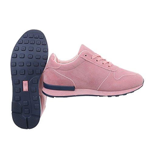 Zapatillas Design Zapatillas Ital Plano mujer Rosa para N862f Zapatos Low xCqP4R1w4