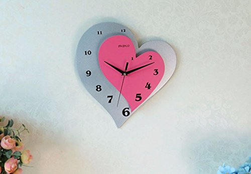 Personal fashion creative hanging table living room heart-shaped hanging table bedroom clock
