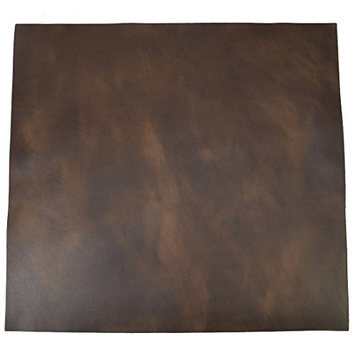 "Leather Square (12""x12"") for Crafts / Tooling / Hobby Workshop, Medium Weight (1.8mm) by Hide & Drink :: Bourbon Brown"