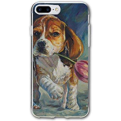 (Oil Painting Dog Resistant Cover Case Compatible iPhone 7 Plus iPhone 6 Plus)