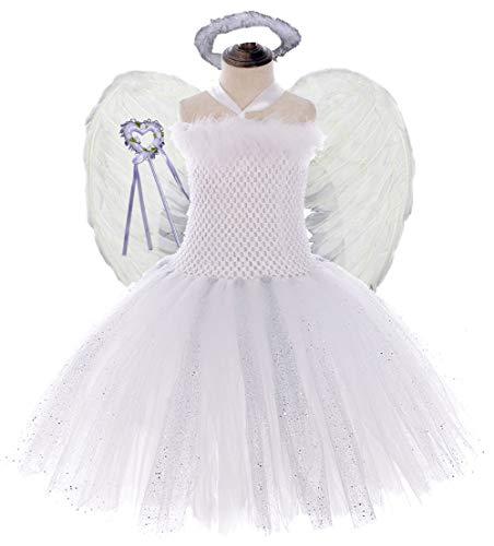 Angel Costumes For Teenagers (Tutu Dreams Angel Costumes for Teens Guardian Fairy Costumes Playing Dress-up Prom Ball Dance Dress (XXX-Large,)