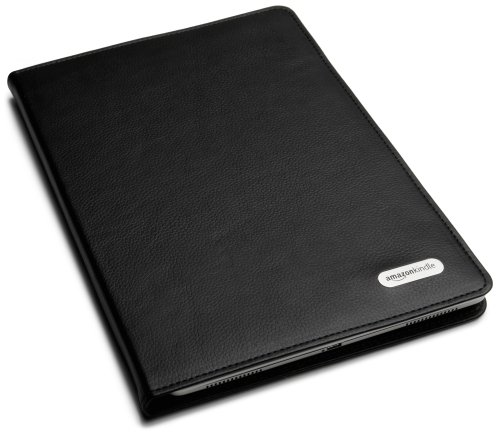 Amazon Kindle DX Black Leather Cover (Fits 9.7