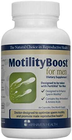 Fairhaven Health MotilityBoost for Men: Support Sperm Motility White