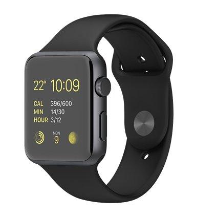 Apple Watch Sport 42mm MJ3T2J/A [ブラックスポーツバンド]