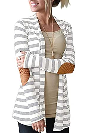 ALBIZIA Women's Sheer Chiffon Open Front Floral Kimono Cardigan Blouse Cover Up (S, 2-Light Grey)