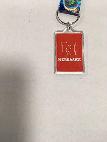 NCAA Premium Team Logo Acrylic Keychain Key Ring (Nebraska Huskers) - Huskers Keychain