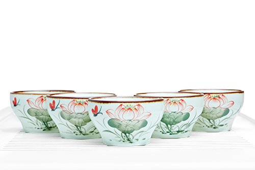 Tea Bowl Set of 5 Cups Hand Painted Chaw - Hand Painted Porcelain Teacup Shopping Results