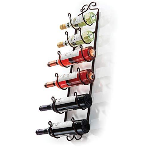 Sagler Towel Rack and Wine Rack – Bronze Wall Wine Rack – Wall Mounted Wine Rack fits up 6 Level Wine Bottles and Many Towels – fits as Bathroom Towel Holder, or Towel Hanger, or a Cap Rack