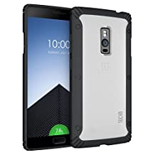 OnePlus 2 Case - TUDIA Scratch Resistant LUCION Lightweight Hybrid Matte Back Panel Protective Cover for the OnePlus Two (Black)
