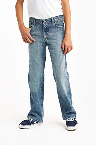 Wrangler Authentics Boys' Big Authentics Boot Cut Jeans, Stonewash Indigo, 6