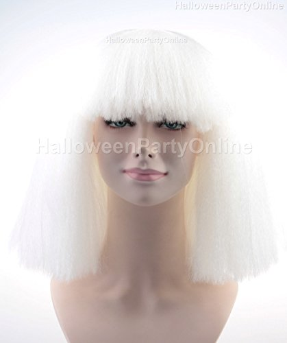 Halloween Party Online SIA White Wig Costume Cosplay HW-143 - Buy Online in  KSA. Miscellaneous products in Saudi Arabia. See Prices d30628c6e5a0