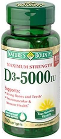 NB VIT D-5000IU 100SG by Nature's Bounty