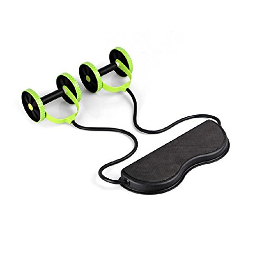 (TOOGOO Abdominal Waist Slimming Trainer Exerciser Roller Core Double AB Wheel Fitness Equipment)